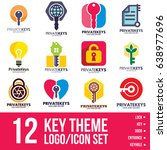 key logo icon bundle | Shutterstock .eps vector #638977696