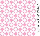 vector flower pattern... | Shutterstock .eps vector #639001618