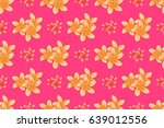 modern motley floral seamless...   Shutterstock . vector #639012556