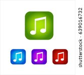 set music icon button. colorful....