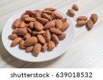 Almond Nut On Wood Table Image