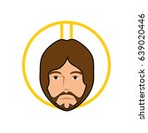jesus christ icon | Shutterstock .eps vector #639020446