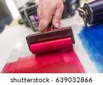 an acrylic paint roller for... | Shutterstock . vector #639032866