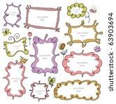 doodle frames | Shutterstock .eps vector #63903694