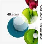 circle vector background ... | Shutterstock .eps vector #639041092