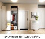 bright and cozy hall interior... | Shutterstock . vector #639045442