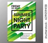 summer night party vector flyer ... | Shutterstock .eps vector #639059458