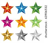 Vector Star Icon On White...