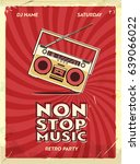 retro party poster design.... | Shutterstock .eps vector #639066022