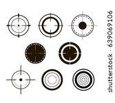 sniper scopes monochrome... | Shutterstock .eps vector #639069106