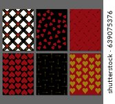 set of black  red   white and... | Shutterstock .eps vector #639075376