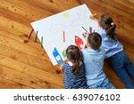 happy children. top view...   Shutterstock . vector #639076102