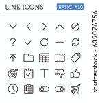vector line icons for... | Shutterstock .eps vector #639076756
