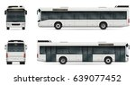 city bus vector template for... | Shutterstock .eps vector #639077452