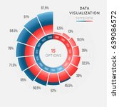 vector circle chart infographic ... | Shutterstock .eps vector #639086572