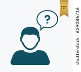 boy think question icon...   Shutterstock .eps vector #639086716