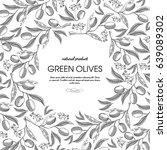 olive oil round sketch... | Shutterstock .eps vector #639089302