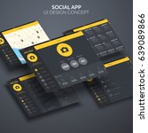 social page application ui...