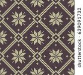 seamless jacquard knitting... | Shutterstock . vector #639091732