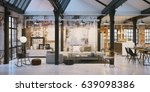 panorama view inside old... | Shutterstock . vector #639098386