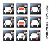 nine vector icons with car care ... | Shutterstock .eps vector #63910852