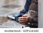 homeless elderly woman refugee  ... | Shutterstock . vector #639116182