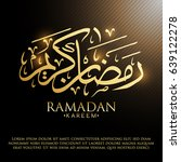 gold and black ramadan graphic... | Shutterstock .eps vector #639122278