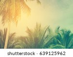 coconut tree background  retro... | Shutterstock . vector #639125962