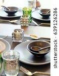 detail  image of elegant dining ... | Shutterstock . vector #639126286