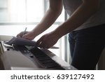 composer and songwriter writing ... | Shutterstock . vector #639127492