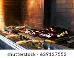 cooking vegetables on the grill   Shutterstock . vector #639127552