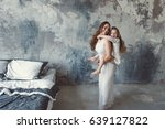 little daughter has a mom in... | Shutterstock . vector #639127822