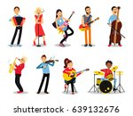 various musicians  characters... | Shutterstock .eps vector #639132676