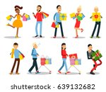 shopping people vector concepts.... | Shutterstock .eps vector #639132682