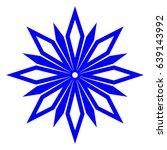 raster illustration. snowflake... | Shutterstock . vector #639143992