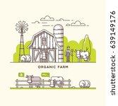 organic farm. milk and dairy... | Shutterstock .eps vector #639149176