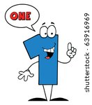 friendly blue number with... | Shutterstock .eps vector #63916969