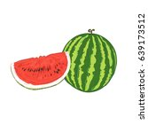 watermelon  sketch style | Shutterstock . vector #639173512