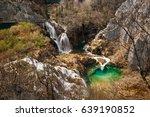 plitvice lakes national park ... | Shutterstock . vector #639190852