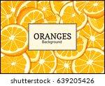 rectangular label on citrus... | Shutterstock .eps vector #639205426