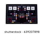 engine room console control... | Shutterstock . vector #639207898