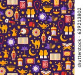 seamless pattern with arabic... | Shutterstock .eps vector #639213802