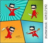super hero set  chef of... | Shutterstock . vector #639217192