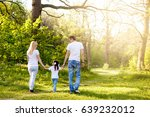 cute baby girl walking in park... | Shutterstock . vector #639232012