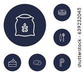 set of 6 bakery outline icons... | Shutterstock .eps vector #639232045