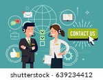 cool vector flat concept design ... | Shutterstock .eps vector #639234412