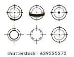 target icons set sniper scope... | Shutterstock .eps vector #639235372
