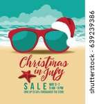 christmas in july marketing... | Shutterstock .eps vector #639239386