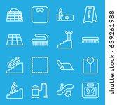 floor icons set. set of 16... | Shutterstock .eps vector #639261988