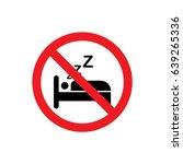 no sleeping icon illustration... | Shutterstock .eps vector #639265336